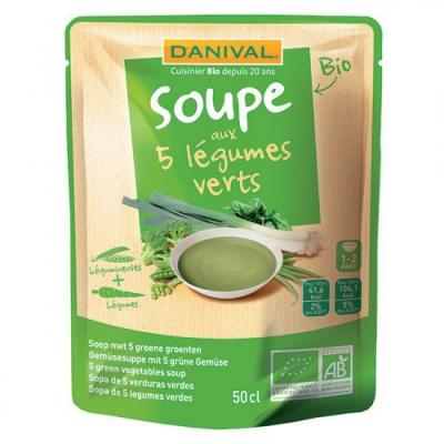 Danvial - Soupe au 5 Légumes verts