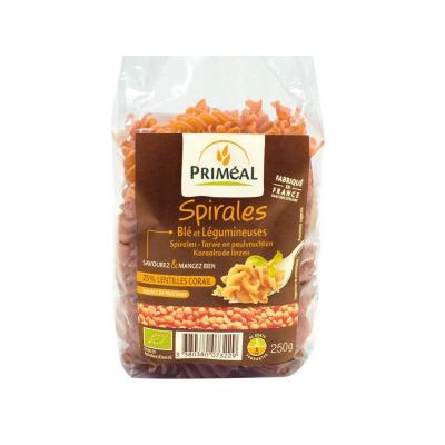Spirales 25% lentilles corail 250g