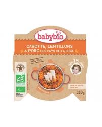 Assiette Carotte Lentillons Porc