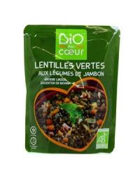 Lentilles vertes cuisinées et jambon 250g