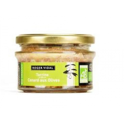 Terrine de canard aux olives roger vidal 130g