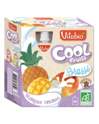 cool fruits mangue ananas+brassé 4x85g