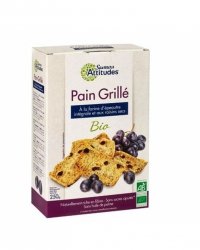 Pain Complet Grillé Epeautre et Raisins
