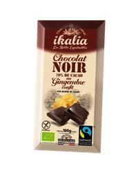 Chocolat Noir au Gingembre Confit