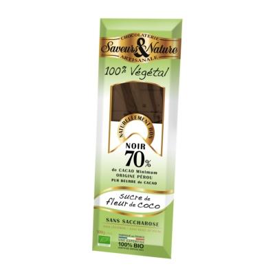 Chocolat noir sucre fleur de coco vegan 100g