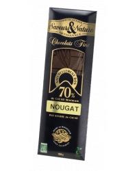 Chocolat Noir 70% au Nougat de Montélimar