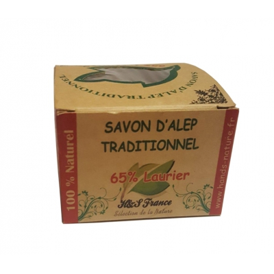 Savon d'Alep Traditionnel 65% Laurier