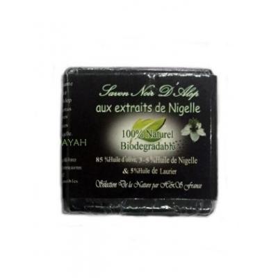 Savon noir d'alep aux extraits de nigelle 100g