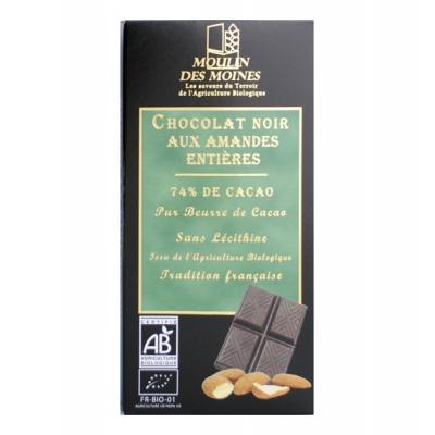 Chocolat noir amande entière 100g