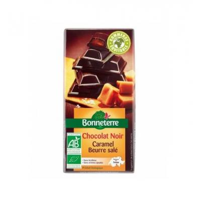Chocolat noir fourré caramel salé 100g
