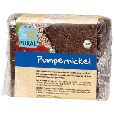 Pain cplt pumpernickel 375g