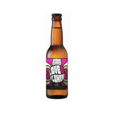 "Bière blanche ""love and flowers"" 33cl"