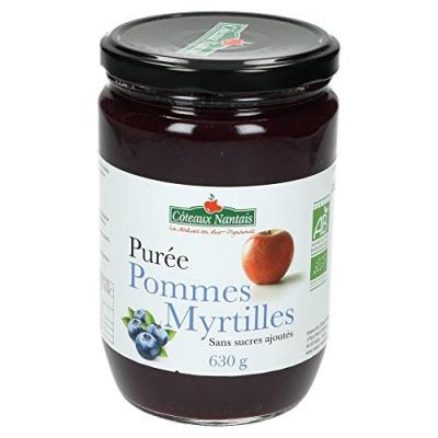 Purée de Pommes Myrtille 630g