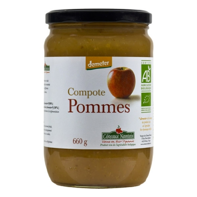 Compote de Pommes demeter 660g
