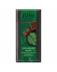 Chocolat lait noisettes vivani 100g