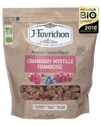Muesli Croustillant Cranberry Myrtille Framboise