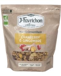 Muesli Croustillant Cranberry Gingembre
