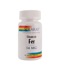 Citrate de fer 14mg solaray 60caps
