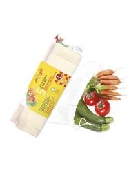 Sacs en Coton Bio pour Fruits & Légumes, Taille L