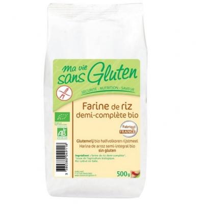 Farine de riz 1/2 complète sg 500g