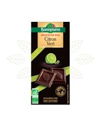Chocolat Noir au Citron Vert
