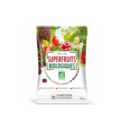 Mix superfruits + fèves cacao 30g