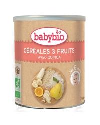 Babybio céréales 3 fruits 220g