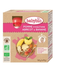Gourde Pomme Abricot Banane
