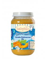 Babybio - Bonne Nuit Carotte – Potimarron – Riz