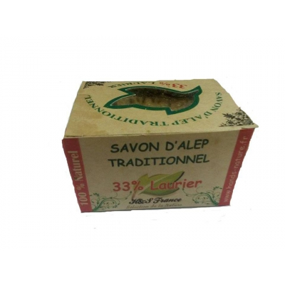 Savon d'alep traditionnel 33% laurier 200g