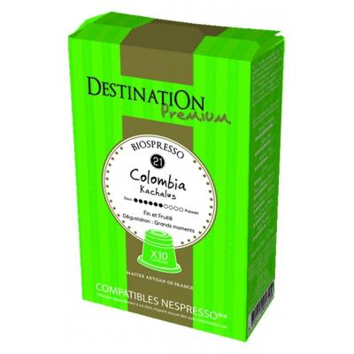 Capsules café colombie n21 10caps