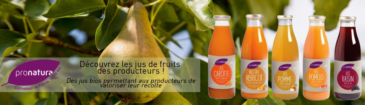 Jus de fruits des producteurs